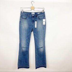 William Rast   Flare Crop Raw Release Hem Jeans